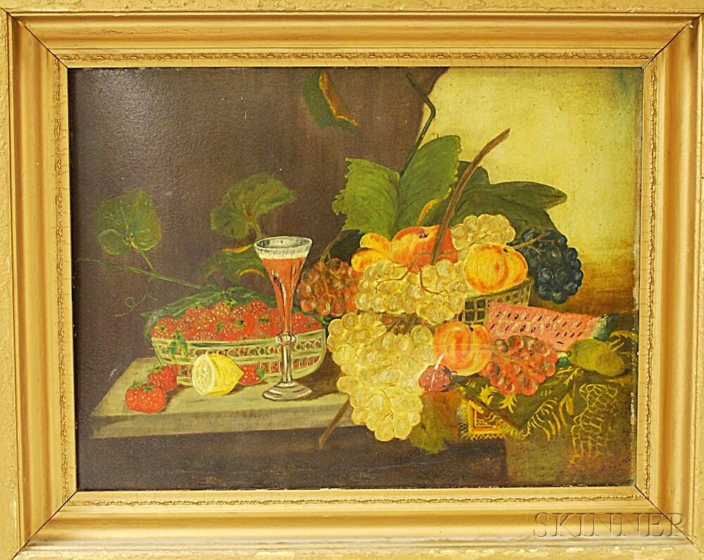 Attributed to George Whitaker (American, 1841-1916)       Still Life with Fruit.