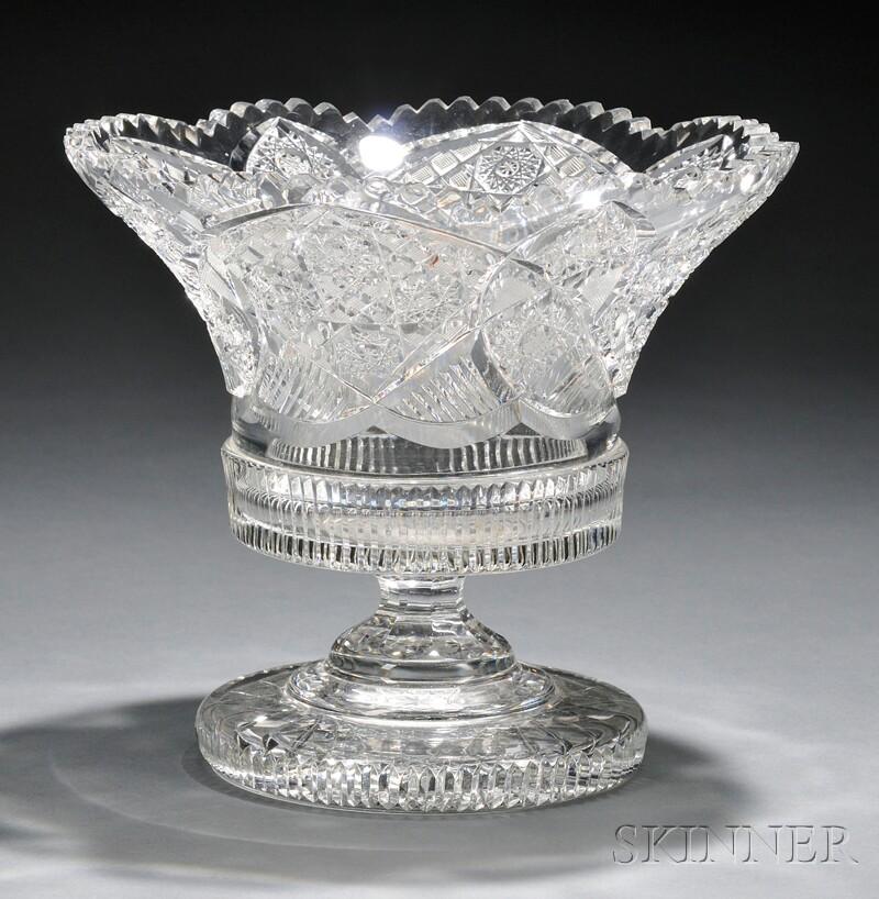 American Brilliant-cut Glass Center Bowl