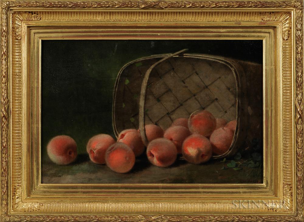 George Harvey (New York, Massachusetts, England, Canada, 1800-1878)      Sill Life with Peaches