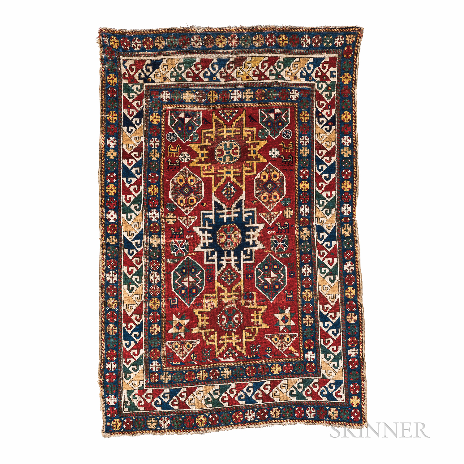 "Moghan Rug with ""Lesghi Star"" Design"