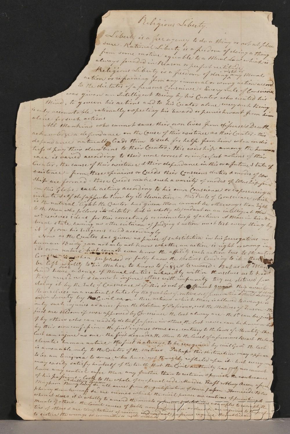 (Religious Liberty), Elkins, Thomas and Singleton, John
