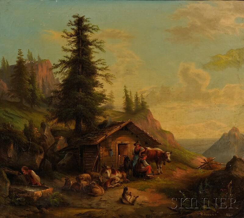 Continental School, 19th Century      Alpine Farm
