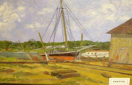 Three Framed Marine Works