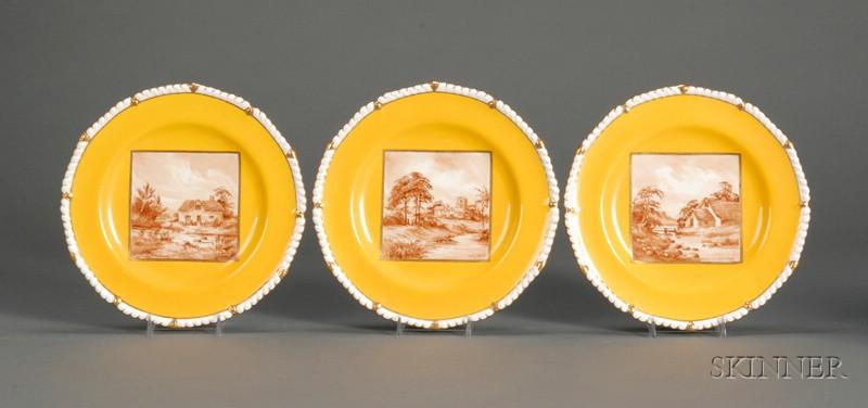 Twelve Royal Crown Derby Bone China Plates