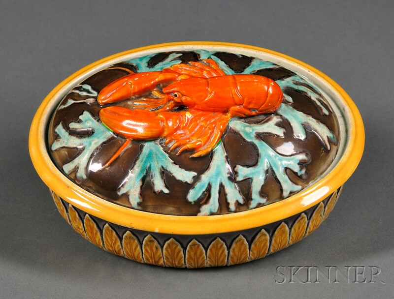 Wedgwood Majolica Lobster Dish and Cover