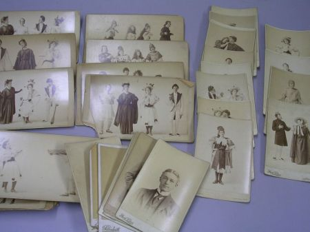 Collection of Thirty-one Early 20th Century Theatrical Photographic and Eight Portrait Cabinet Cards.