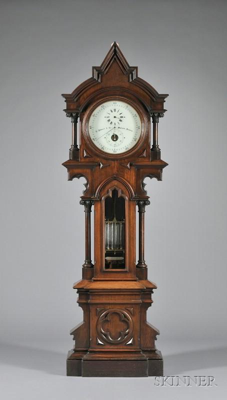 Walnut Astronomical Regulator by E. Howard