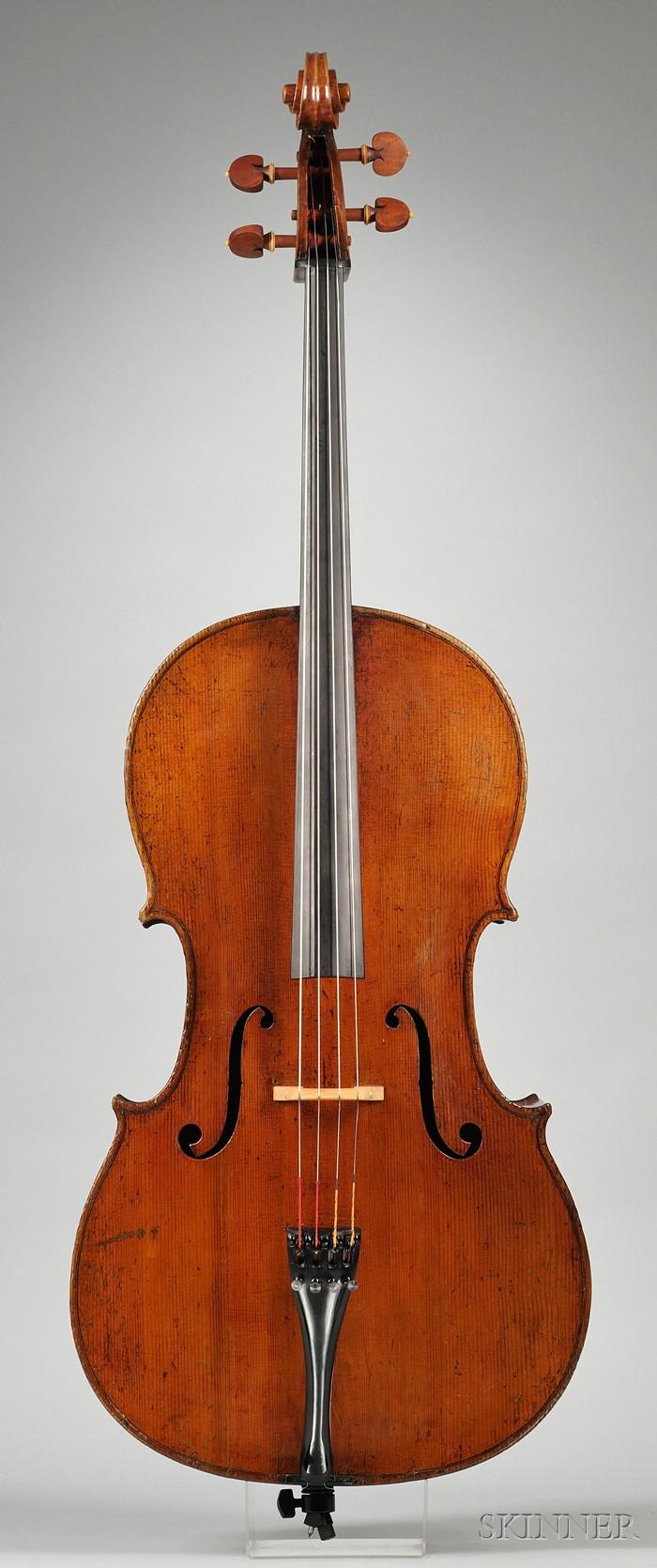 Northern Italian Violoncello, Storioni School, c. 1800