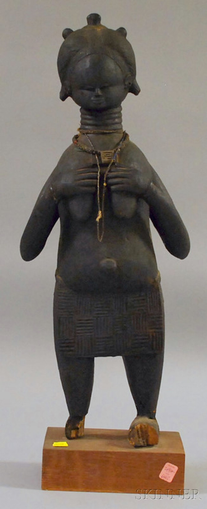 African Carved Wooden Female Standing Figure