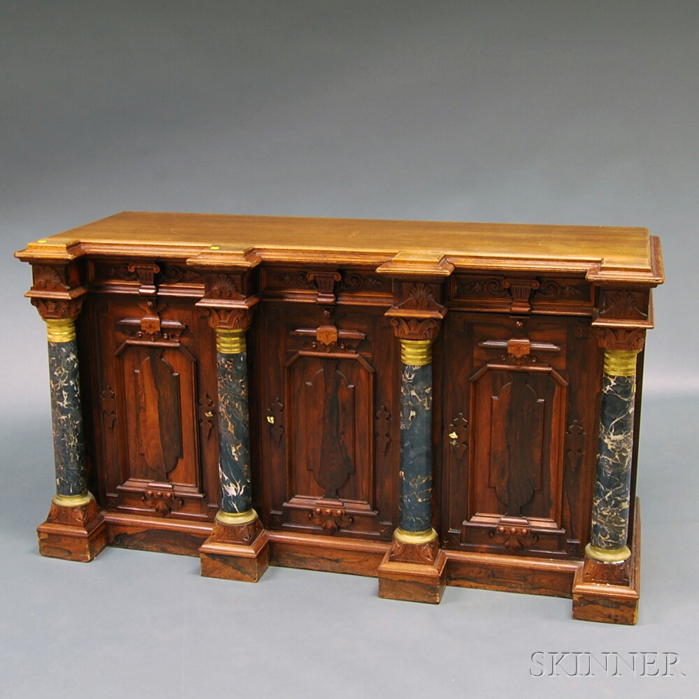 Renaissance Revival Paneled Rosewood Sideboard
