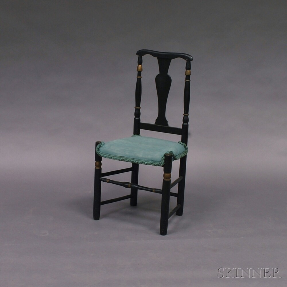 Black-painted Country Side Chair