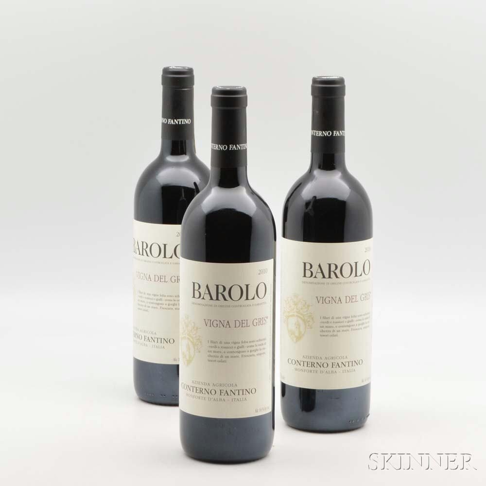 Fantino Barolo Vigna del Gris 2010, 12 bottles (oc)