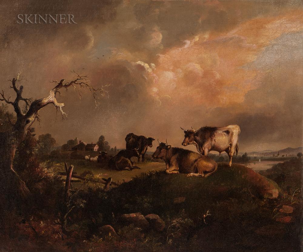 William Otis Bemis (American, 1819-1883)      Cattle at Pasture