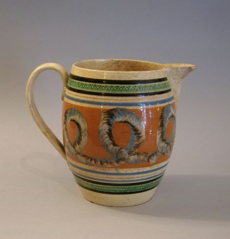 19th Century English Mochaware Jug