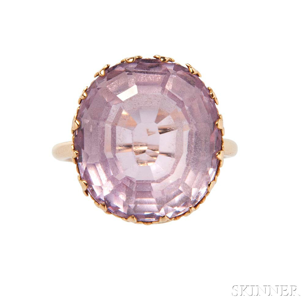 14kt Gold and Kunzite Ring