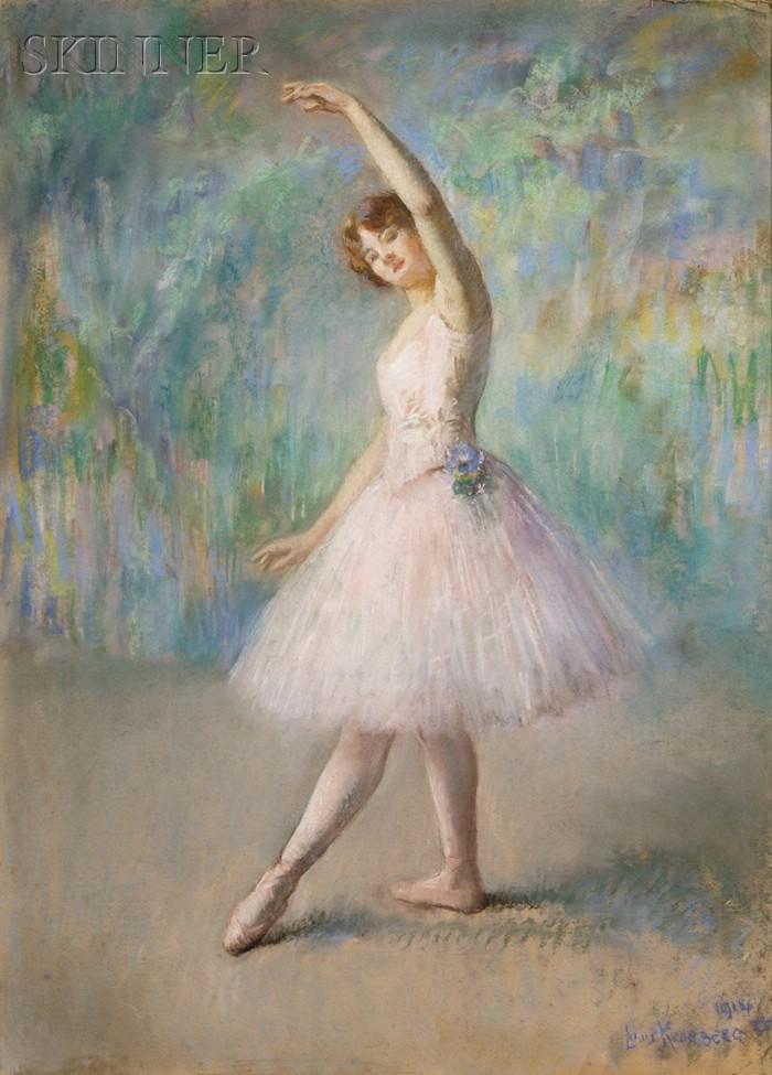 Louis Kronberg  (American, 1872-1965)      Ballet Girl