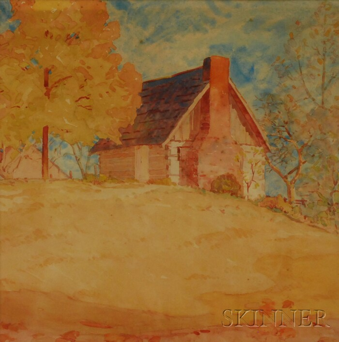 Paul Hadley (American, 1880-1971)      Farmhouse in Autumn