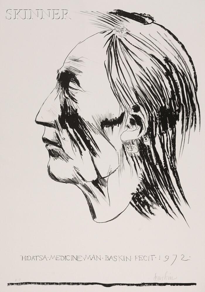 Leonard Baskin (American, 1922-2000)      Hidatsa Medicine Man