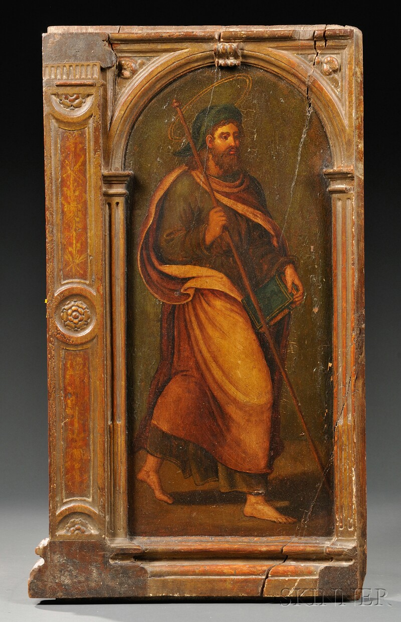 Painted Panel with St. Paul