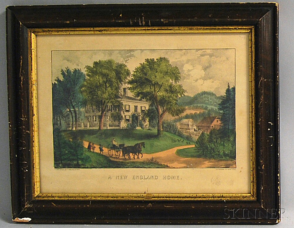 Currier & Ives, publishers (American, 1857-1907)       A New England Home.