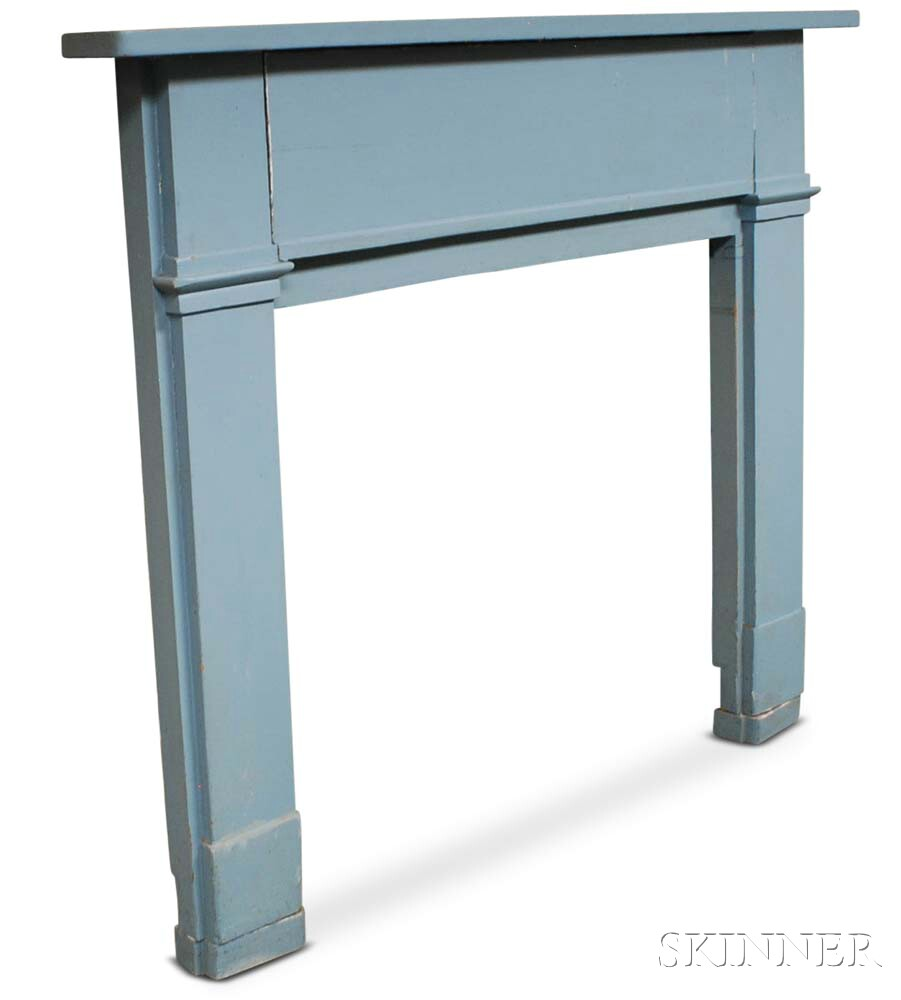 Blue-painted Mantel