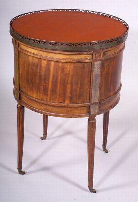 Louis XVI Style Walnut and Brass-mounted Jardiniere Table