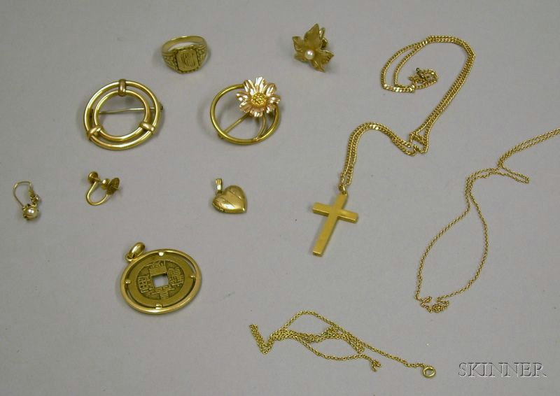 Small Group of Assorted Gold and Other Jewelry