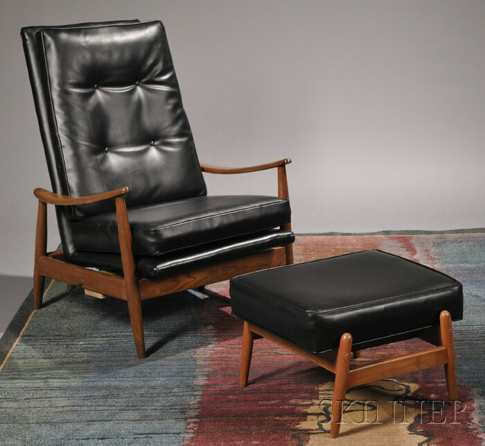 Lounge Chair and Ottoman Attributed to Milo Baughman