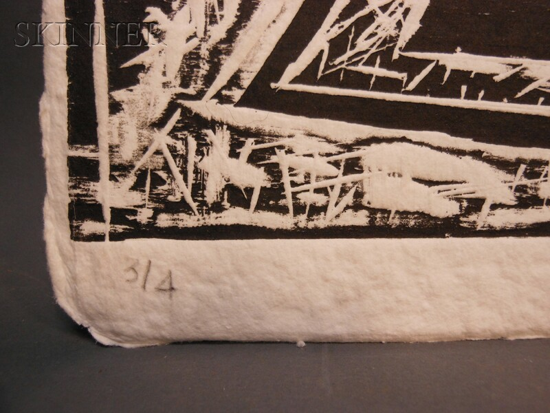 Dmitri Hadzi (American, 1921-2006)      Two Compositions Printed at the Garner Tullis Workshop: W6