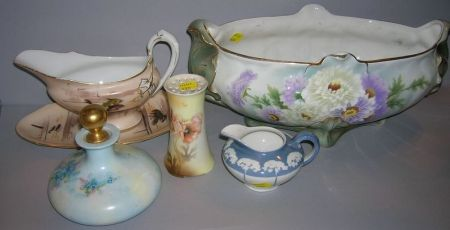 Six Pieces of Limoges and Limoges-type Decorated Porcelain