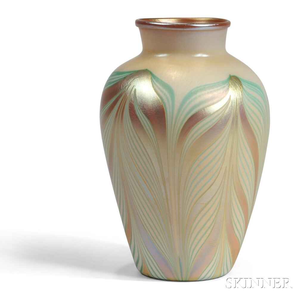 Kew Blas Pulled Feather Vase