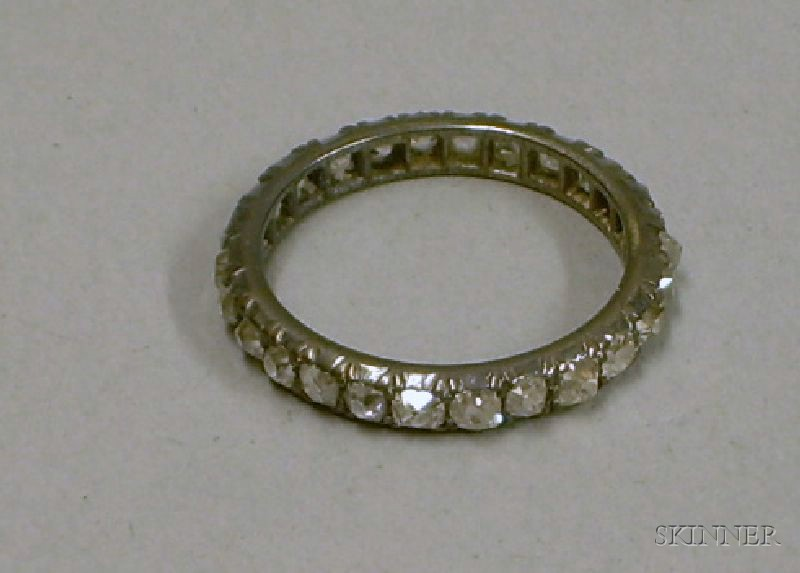 19th Century Silver and Rough-cut Diamond Eternity Ring.