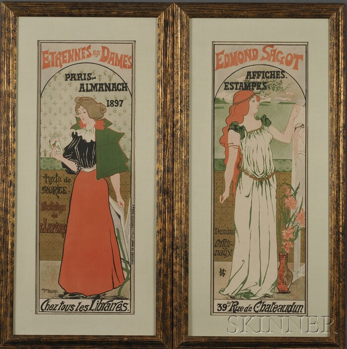 Gustave Marie (French, 19th/20th Century)      Lot of Two Color Lithographs: Edmond Sagot