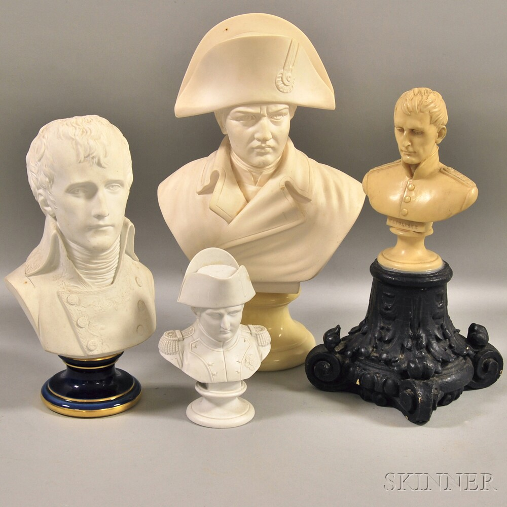 Four Busts Depicting Napoleon