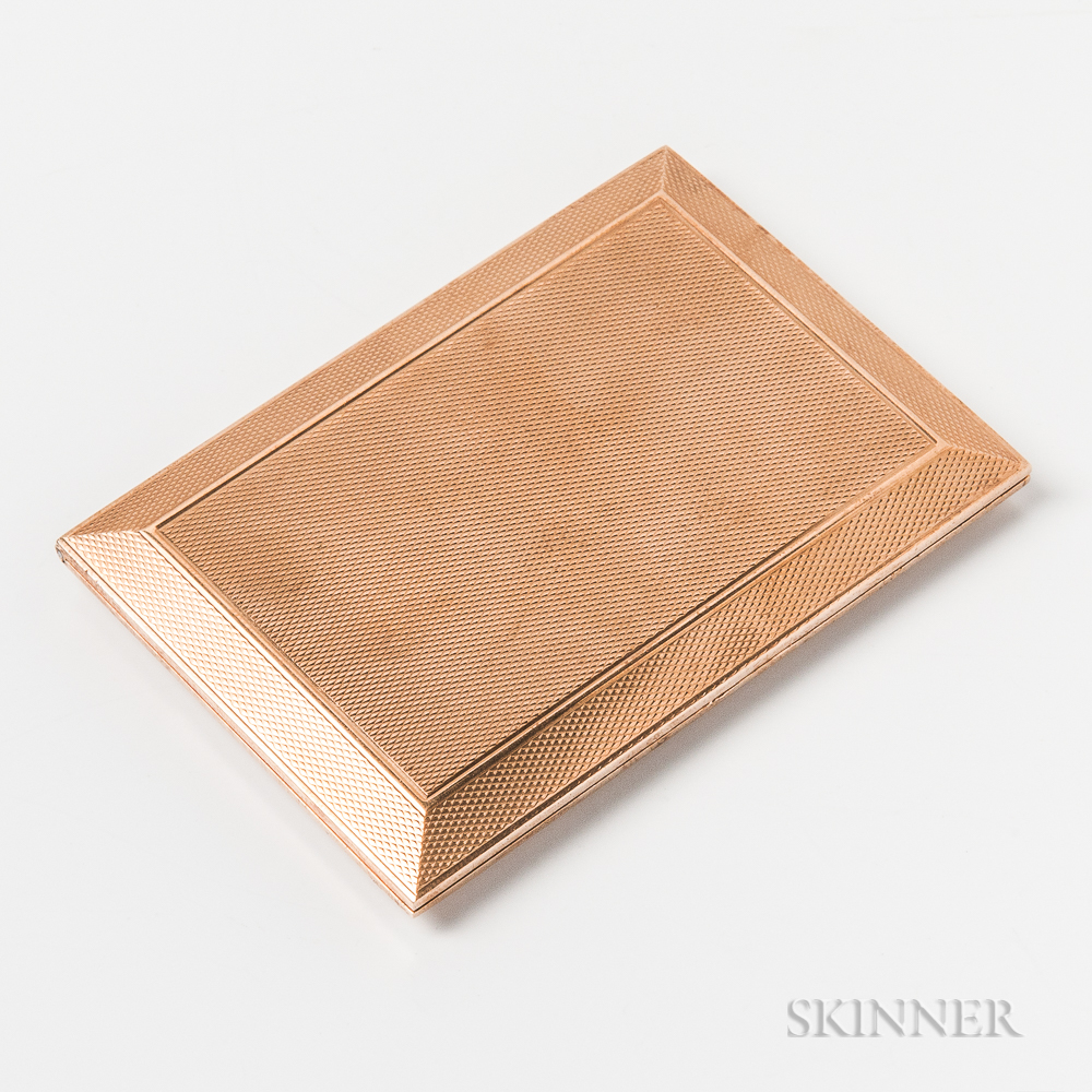 Asprey 9kt Gold Cigarette Case