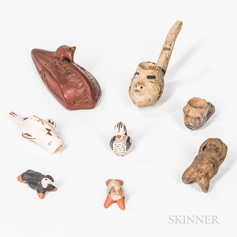 Eight Pueblo Pottery Items