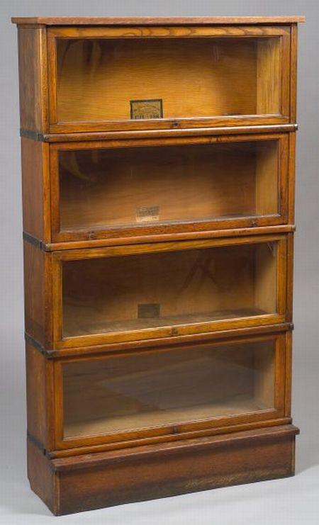 Globe-Wernicke Oak Four-Stack Barrister Bookcase