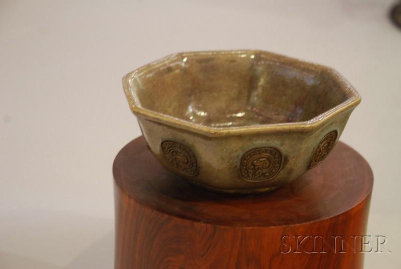 Octagonal Stoneware Bowl