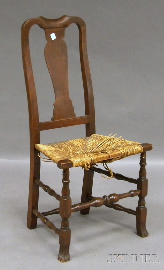 Queen Anne Cherry Side Chair with Spanish Feet