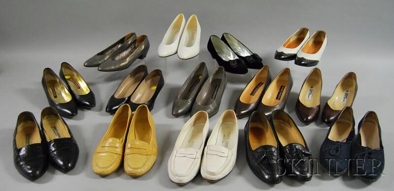 Fourteen Pairs of Women's Designer Shoes