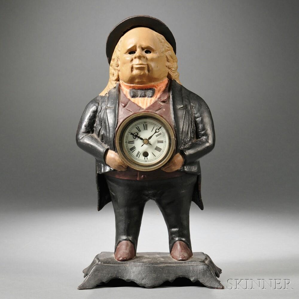 Cast Iron Blinking Eye Clock