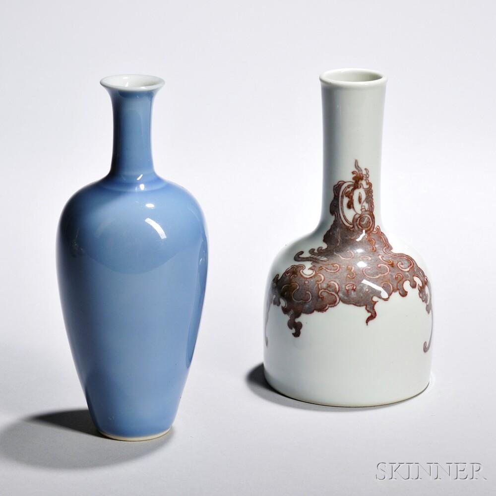 Two Porcelain Bottle Vases