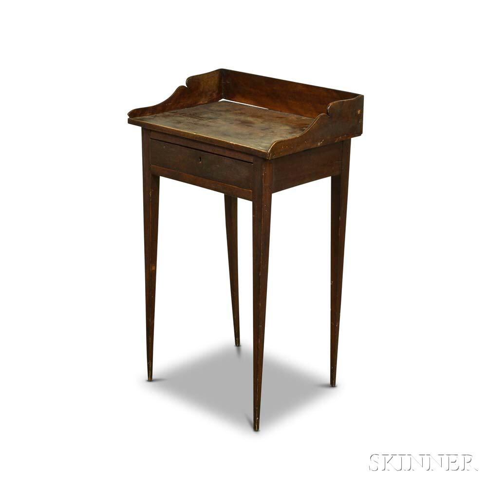 Federal Birch One-drawer Galleried Stand