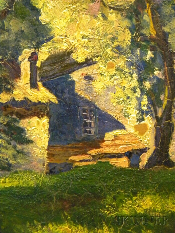 Raymond Woog (French, b. 1875)      Sun and Shadow/House and Trees