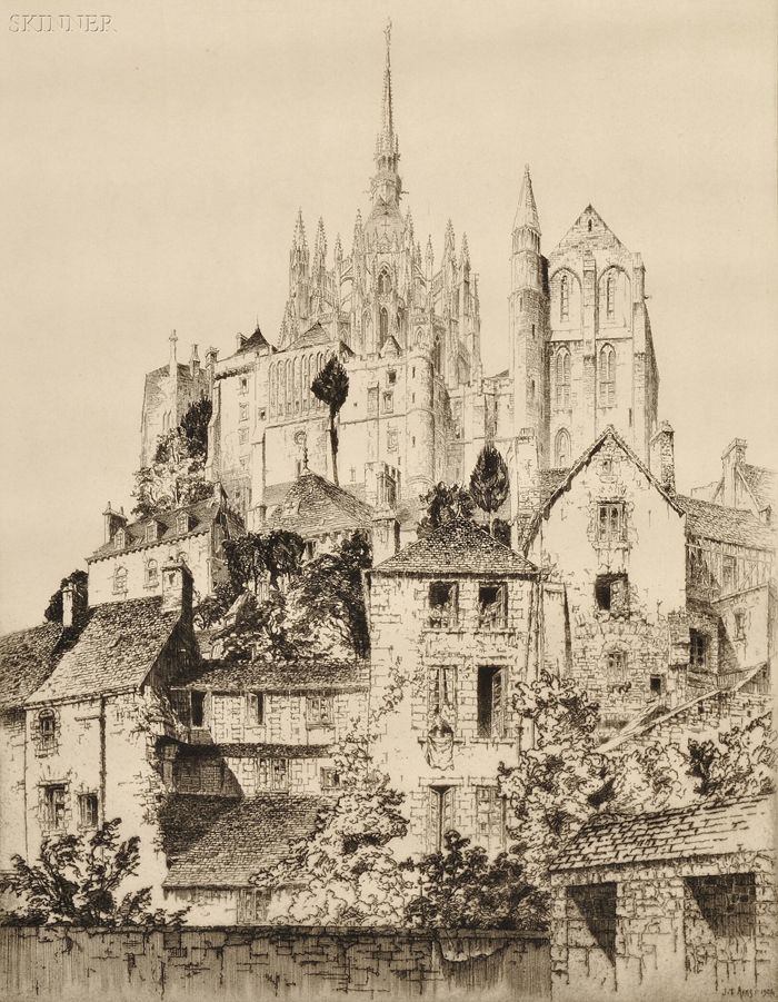 John Taylor Arms (American, 1887-1953)      Mont-Saint-Michel