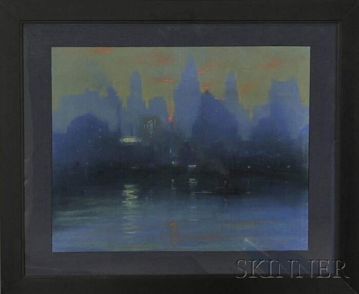Leon Louis Dolice (American, 1892-1960)      City Skyline