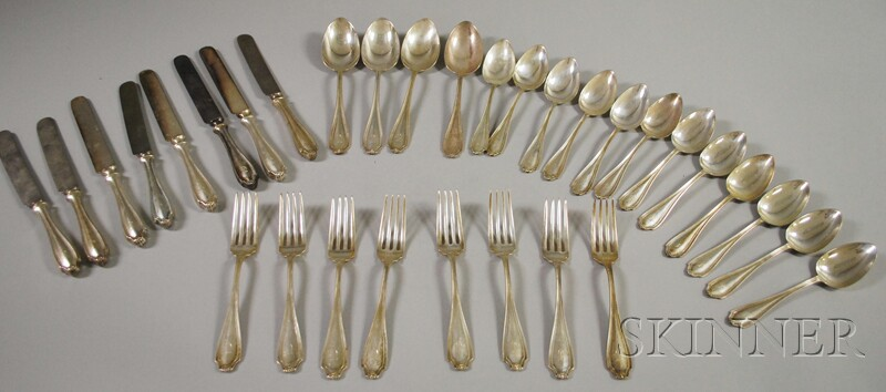 "Thirty-two Whiting ""Stratford"" Sterling Silver Flatware Items"
