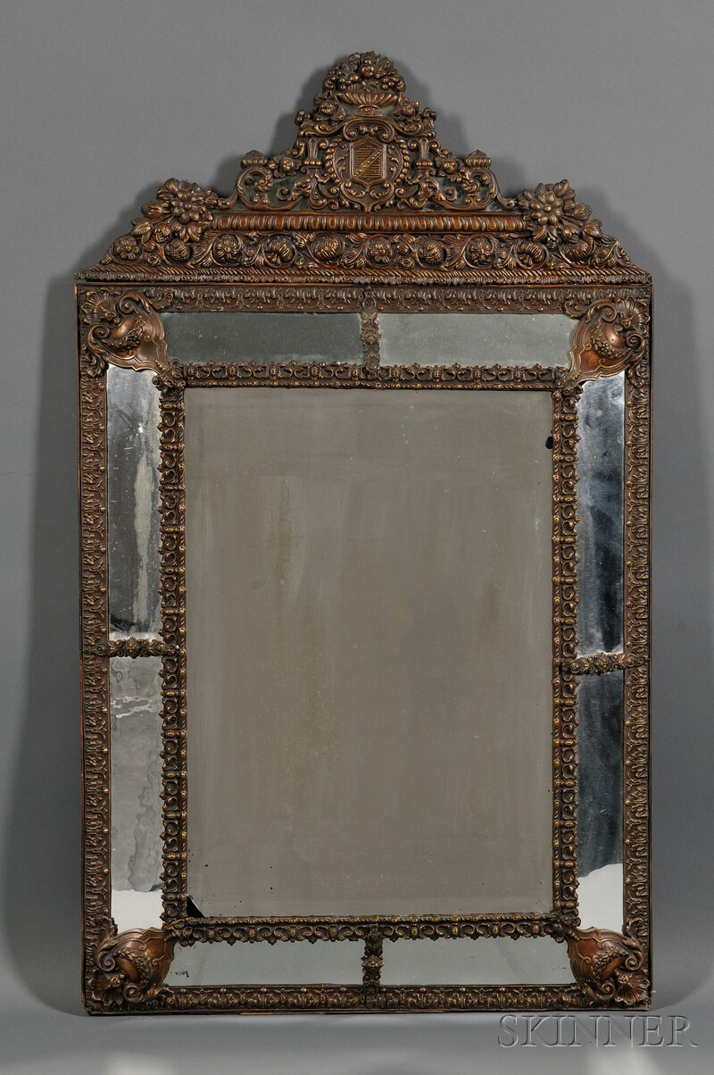 Mirror with Molded Copper Frame