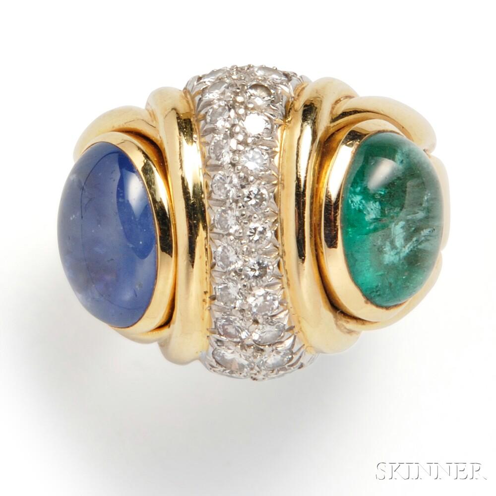 18kt Gold Gem-set Ring, David Webb