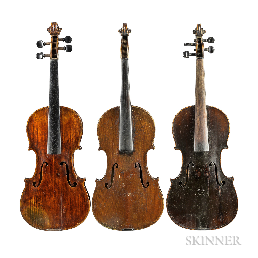 Three Violins.     Estimate $300-500